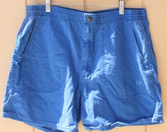 Vintage Op Ocean Pacific Beach Surf 1980s Blue Shorts