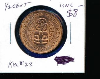 New Zealand 1960 Half Penny