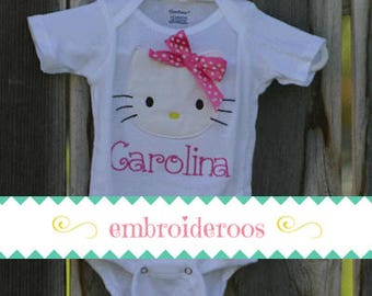 Hello Kitty with Fabric Bow