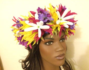 Spring flower crown with tiare