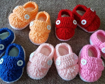 1 (beatle) crochet baby shoe