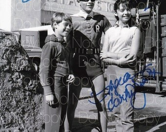 Batman & Robin signed Burt Ward Angela Cartwright Bill Mumy 8X10 photo picture poster autograph RP