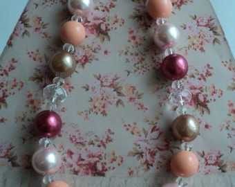"""The  M2M """" Pocket Full Of Posies  """" Persnickety Collection 2017  Glass Bead Necklace, Toddler, Girls, Birthday, Photo Prop"""