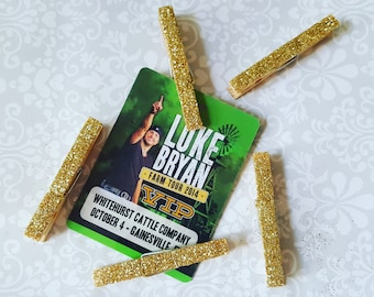 Gold Glittered Pegs