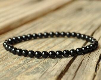 Black Tourmaline Bracelet, Protection Bracelet, Grounding Bracelet, Base Chakra, Yoga Bracelet, Energy Bracelet