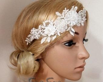 SALE wedding headband, Lace Wedding headband, bridal headband, Wedding Headpiece, Bridal Headpiece, Flower girl headband, Boho headband