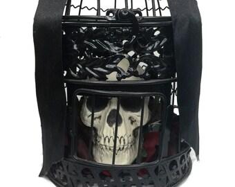 SALE Skull Rose Black Cage