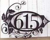 """Outdoor Custom Metal Address Sign 