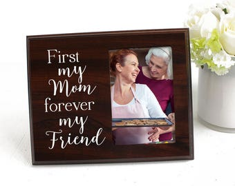 Mothers Day Picture Frame Gift First My Mom