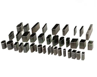 39 piece seamless jewelry cutter set, perfect for polymer clay earrings, pendants, bracelets and other crafts.