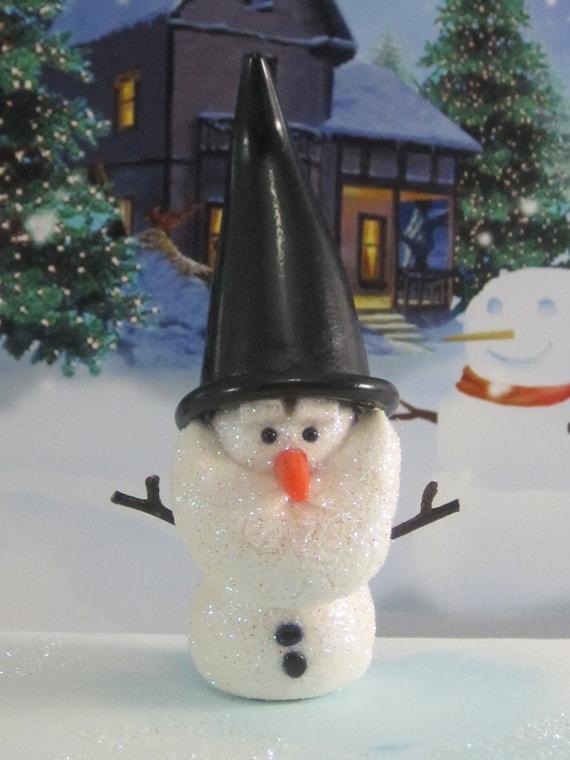 Snowman Gnome for Winter Wonderland Fairy Garden OOAK