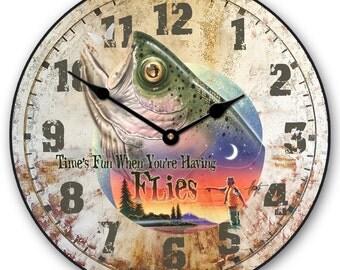 Bass Time Flies Wall Clock