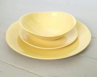 Johnson Dinnerware 3pc setting Golden Cloud