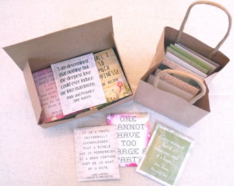 Jane Austen tea gift set - Jane Austen gifts - Pride and Prejudice - Sense and Sensibility - Manfield Park - Mr Darcy