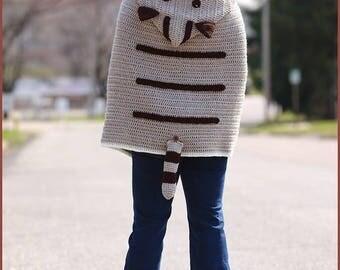 Kitty Cat Crochet Poncho