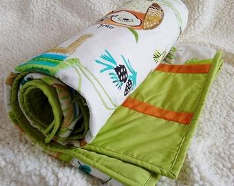 Toddler bed quilt, Toddler quilt, Toddler bedding for boys, Toddler boy bedding, Woodland nursery bedding, Boy quilt, Homemade quilt