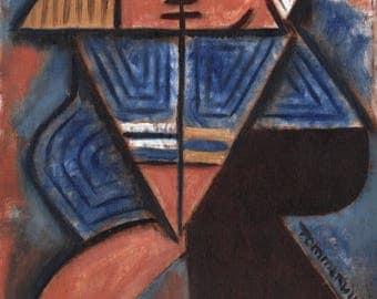 Tommervik Dancing Navy Captain Dancers Dance Wall Art  Abstract Cubism Art Print