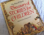 CLEARANCE Platt & Munk Treasury of Stories for Children, Illustrated Children's Book, Waldorf, Fairy Tales, Brothers Grimm, Hans Christian A