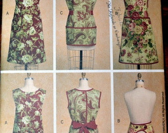 Butterick 5263, Aprons size S, M, and L (View A is cut to size M)