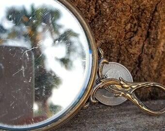 Vintage Mini Hand Mirror