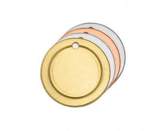 "Aluminum Framed 3/4"" Circle Stamping Blank - Metal Stamping Blank - 16 Gauge - Pack of 18 - Jewelry Metal Stamping Blank - SGIAD124K136"