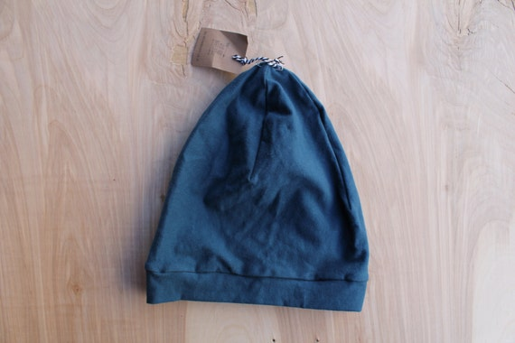 Toddler slouchy beanie- dark teal- slouch hat- toddler slouchy toque- hipster baby clothes- trendy baby clothes- gender neutral