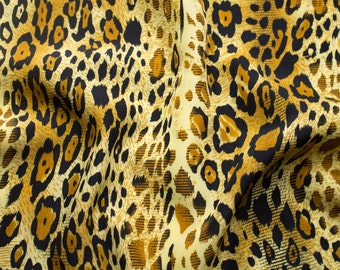 Leopard Print on 58'' Peach Skin Fabric By the Yard Style 3206