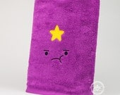 """Adventure Time """"Lumpy Space Princess (LSP)"""" Inspired - Embroidered Bath Towel"""