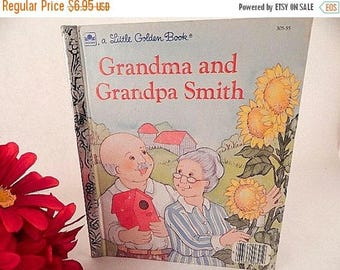 Grandma and Grandpa Smith  Children's  Picture Story Book Little Golden Book Travel  and Family Story Vintage 1980's  Collectible