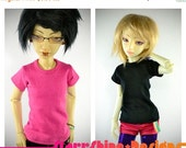20% Off BJD MSD 1/4 Doll clothing - Slim Cut Crew Neck - Your Choice of 20 Colors