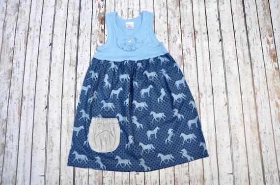 Blue Pony Empire Pocket Dress 6/7