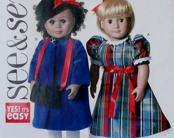 Butterick BSee and Sew 6122  Doll Clothes for 18inch  Dolls Uncut