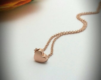Graduation gift,Gift for daughter,Heart necklace,Minimalist heart charm necklace,Gift for graduating sister,Gift for teenager,Gift for her