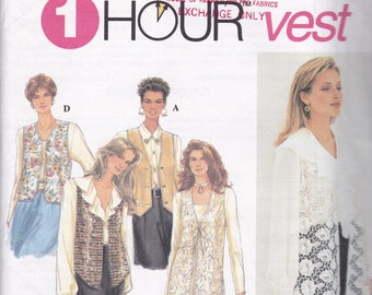 Simplicity 8744 Vintage Pattern Womens Lined Vests in 5 Variations Size X Sm, Sm, Med UNCUT