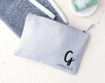 Personalised Men's Initial Wash Bag - Men's Washbag - Personalised Washbag - Shaving Kit Bag - Shaving Washbag - Fathers Day Gift - Wash Bag