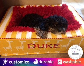 Luxury Pet Bed with Luxuriously Soft Blanket - Washable | Custom Dog Bed or Custom Cat Bed | For Blanket Lovers! | Choose Your Size