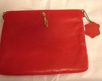 ETRA Red Leather Clutch
