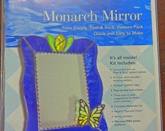 Mirror Pattern - Monarch Mirror Pattern Pack - Stained Glass Monarch Mirror Pattern Pack