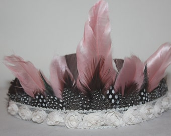 Adult Feather Headdress, Feather Headdress, Headdress, Feather Hair Piece, Hair Accessories, Headband, Feathers, Accessories