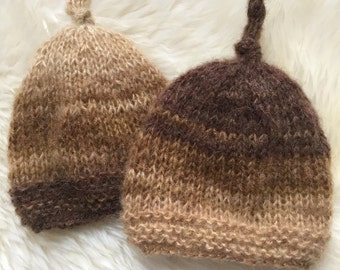 Twins Hats , Baby boy twin hats , Newborn twins hats