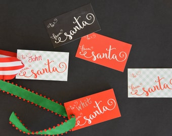 From Santa Christmas Gift Tags / Cards READY TO SHIP