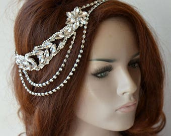 Rhinestone Bridal Headpiece, Wedding Accessories, Rhinestone Headband, Wedding Headpiece, Bridal Hair Jewelry