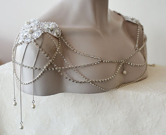 Wedding Dress Shoulder Wedding Shoulder Necklace by ADbrdal