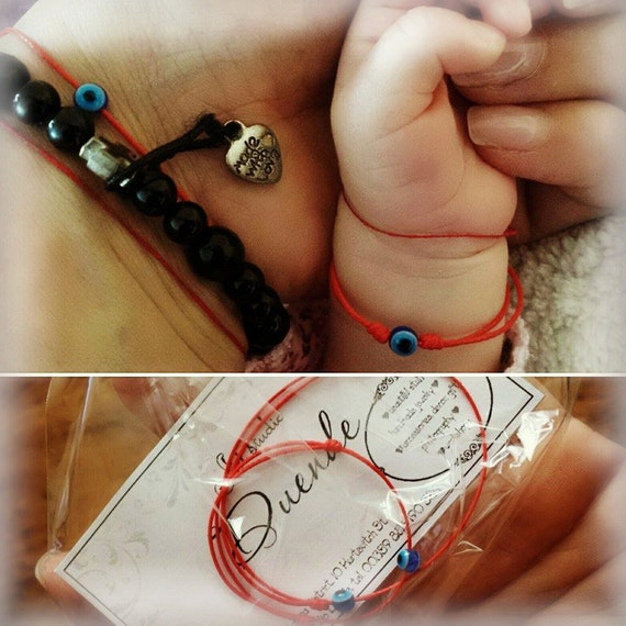 Mother and baby red string bracelet set, Nazar bracelets for mom and baby, Kabbalah bracelets, Evil eye bracelet, Protection bracelets set