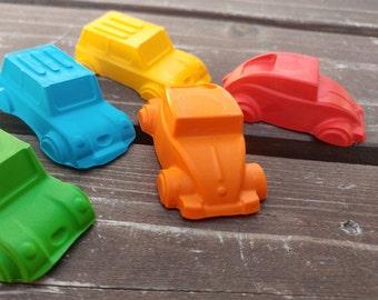 Car Crayons set of 40 - Car Party Favors - Shaped Crayons