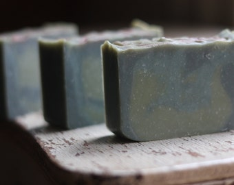 Blue Spruce-  Handmade Soap - Fresh Winter Scent - Holiday Soap