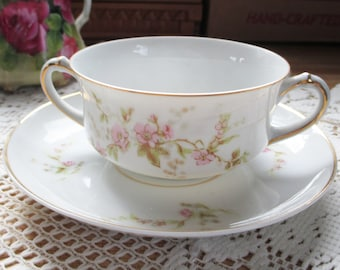 Heinrich & Co, Selb Bouillon cup and saucer -   from a collection of over 100 Awesome sets