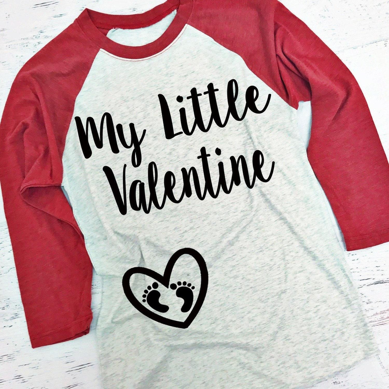 My Little Valentine® Baseball Style Shirt. XS-3XL. Pregnancy
