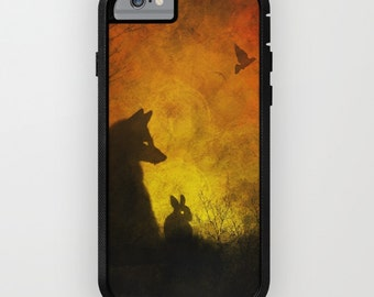 Fox iPhone Case | Rabbit Phone Case | Fall iPhone Case | Autumn iPhone Case | Unique iPhone Case | Hippie iPhone Case | Boho Phone Case