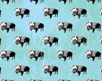 Buffalo Santa Christmas Wrapping Paper